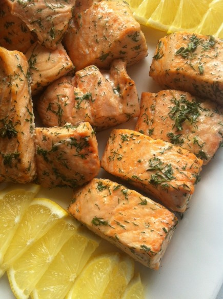 dill and thyme marinated salmon